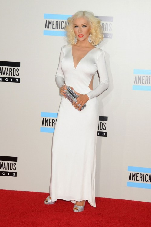 Christina Aguilera in Maria Lucia Hohan on the AMAs