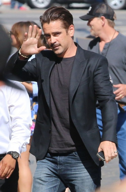 Colin Farrell arriving for the Jimmy Kimmel Live!