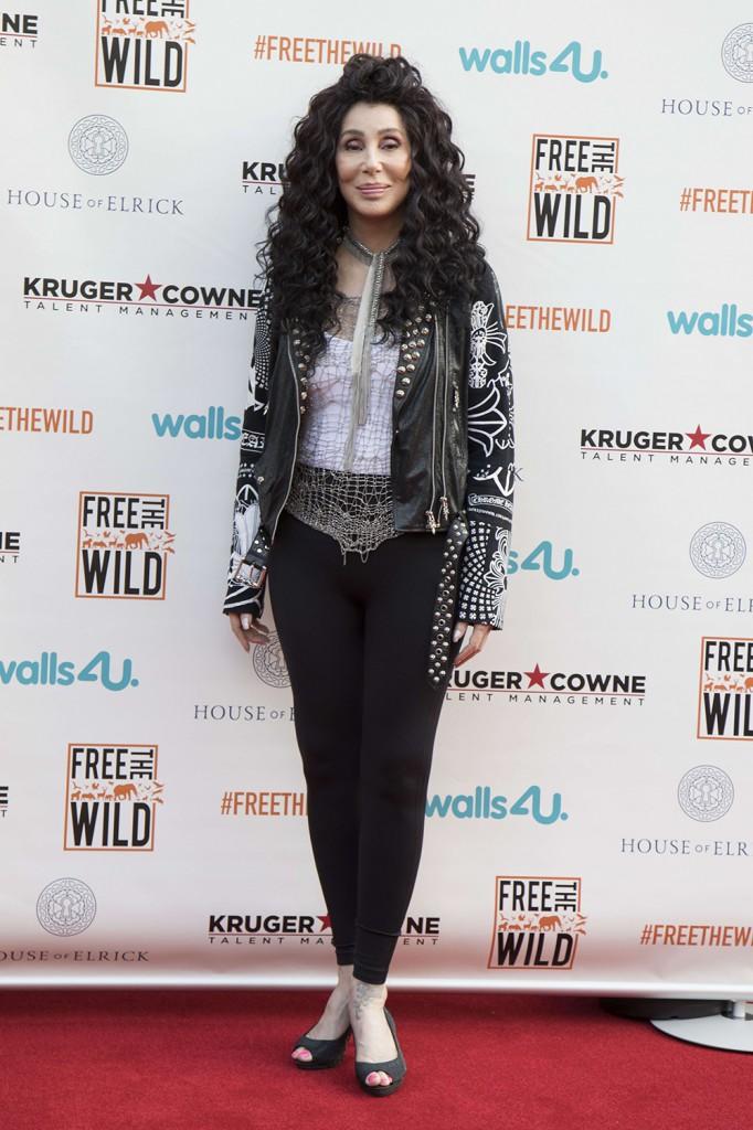 Cher partecipa all'evento di beneficenza Free the Wild a Londra