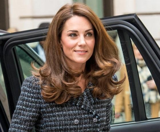 Catherine, la duchessa di Cambridge, arriva alla conferenza della Mental Health in Education della Royal Foundation