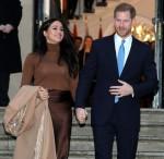 ハリー王子とサセックスのメーガン公爵夫人が英国ロンドンのカナダハウスを訪問