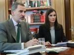 Videoconferenza dei reali spagnoli al Palazzo Zarzuela