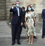 Il re Filippo VI di Spagna e la regina Letizia di Spagna partecipano all'Offerta Nazionale all'Apostolo Santiago