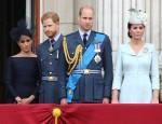 Meghan Duchess of Sussex, Prince Harry, Prince William, Catherine Duchess of Cambridge in occasione del 100 ° anniversario della Royal Air Force, Buckingham Palace, Londra, Regno Unito martedì 10 luglio 2018