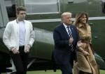 Trumps Return da Bedminster, NJ