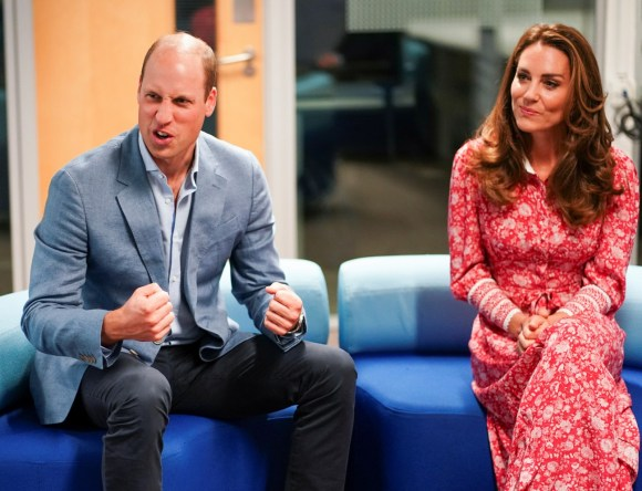 Il principe William e Catherine, duchessa di Cambridge, britannici parlano ai datori di lavoro, al London Bridge Jobcentre, a Londra