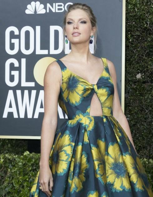 Taylor Swift partecipa al 77th Annual Golden Globe Awards, Golden Globes, presso l'Hotel Beverly Hilton di Beverly Hills, Los Angeles, USA, il 05 gennaio 2020. | utilizzo in tutto il mondo