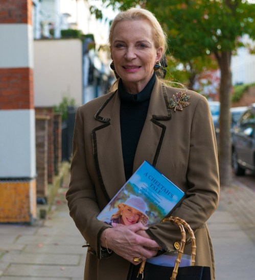 Festival della letteratura di Cheltenham Gloucestershire.Cheltenham .... Sua Altezza Reale la Principessa Michael del Kent lancia il suo nuovo libro A Cheetahs Tale.