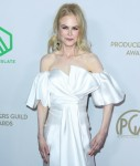 Actress Nicole Kidman wearing an outfit by J Mendel arrives at the 31st Annual Producers Guild Awards held at the Hollywood Palladium on January 18, 2020 in Hollywood, Los Angeles, California, United States.