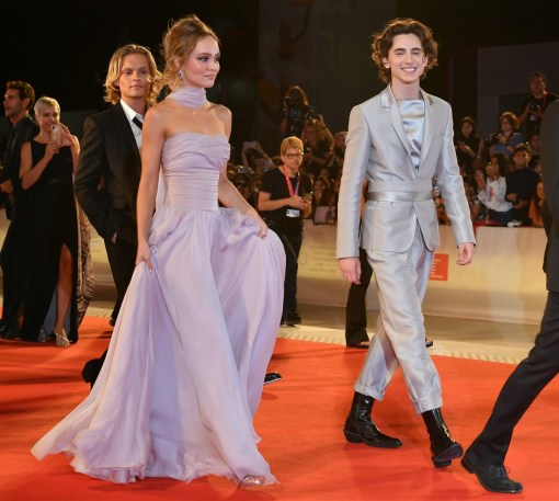Timothee Chalamet, Lily Rose Depp during the red carpet of film ' The King ' at the 67th Venice Film Festival, Venice, ITALY-02-09-2019