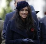 La britannica Meghan, la duchessa del Sussex, partecipa al 91 ° Campo della Rimembranza presso l'Abbazia di Westminster a Londra, giovedì 7 novembre 2019.