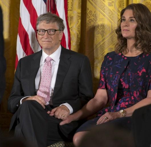 Bill e Melinda Gates annunciano che stanno per divorziare ** FILE FOTO **