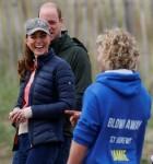 Il principe William e Catherine, duchessa di Cambridge, in Gran Bretagna, visitano St Andrews per provare lo yachting di terra