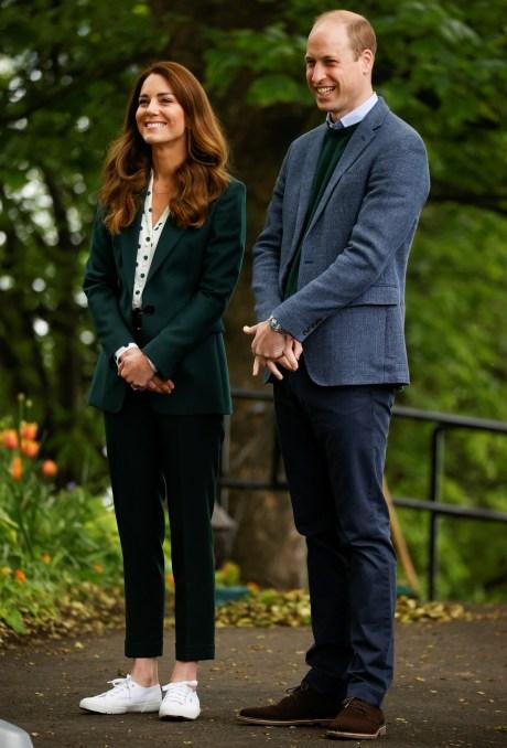 Il principe William e Catherine, duchessa di Cambridge, britannici visitano lo Starbank Park, a Edimburgo