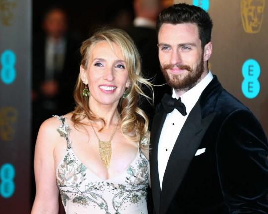 Sam Taylor-Johnson e Aaron Taylor-Johnson arrivano all'EE BAFTA British Academy Film Awards, Royal Albert Hall di Londra, Regno Unito