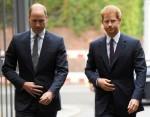 Il principe William e il principe Harry britannici arrivano per visitare il Support4Grenfell Community Hub a Londra