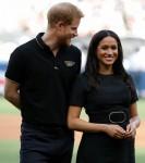 Il principe Harry e Meghan, duchessa di Sussex, partecipano alla partita dei Boston Red Sox contro i New York Yankees a Londra