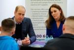 Il principe William e Catherine, duchessa di Cambridge, in Gran Bretagna visitano Coatbridge