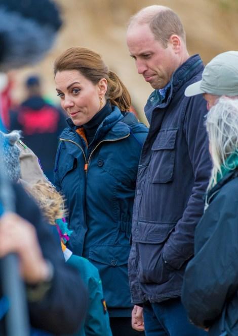 Il Duca e la Duchessa di Cambridge visitano Newborough Beach