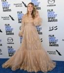 Olivia Wilde arriva ai Film Independent Spirit Awards 2020, tenutisi sulla spiaggia di Santa Monica,...