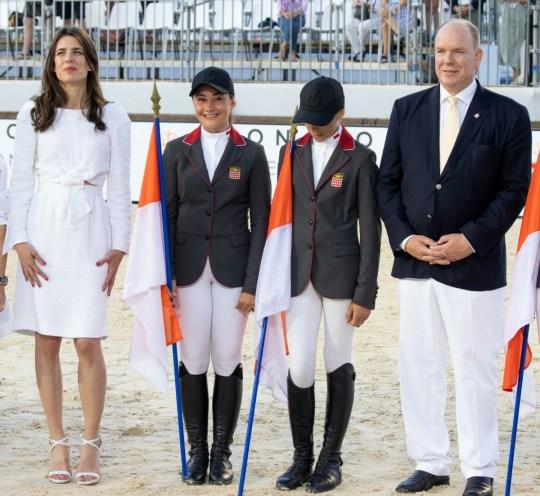 Il Principe Alberto II di Monaco e Charlotte Casiraghi partecipano alla XV edizione del Salto Internazionale di Monte-Carlo.