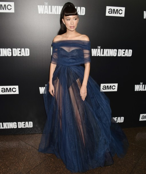 Christian Serratos at the premiere of AMC's 'The Walking Dead' Season 9 at the DGA Theater