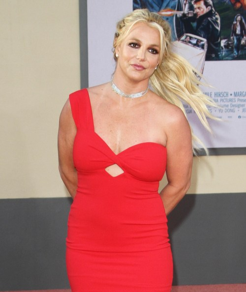 Britney Spears attends the premiere of