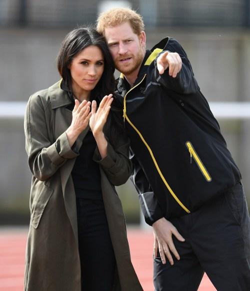 Prince Harry and Meghan Markle take part in the Invictus team tests in Bath