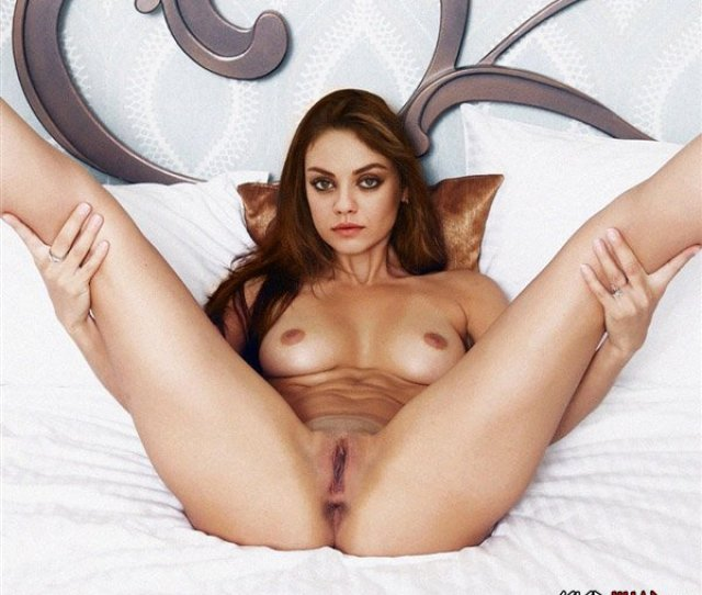 Mila Kunis Poses Completely Nude With Her Legs Spread Open To Promote The Release Of Her New Film Bad Moms In The Photo Above