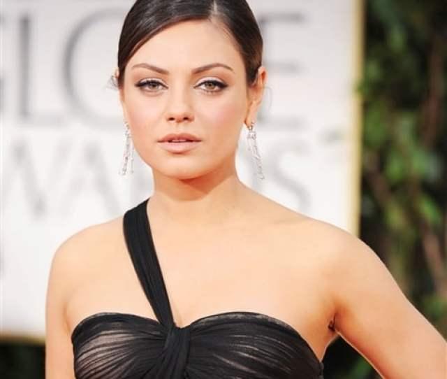 Mila Kunis Wears A See Through Dress