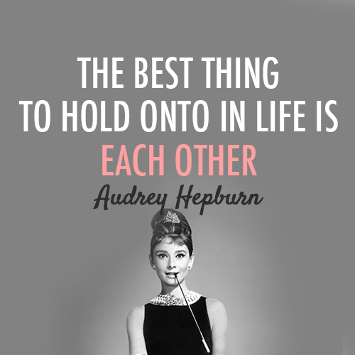 Audrey Hepburn Quote (About typography truth love life ...