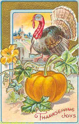Edwardian Thanksgiving Day Postcards