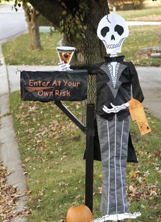 Spooky Halloween Mailbox Decoration - Outdoor Halloween Decorations