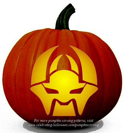 Halloween Transformers Stencil 15 - Free Pumpkin Carving Stencil/Pattern