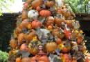 Pumpkin Pile-Up Tree - Outdoor Halloween Decoration