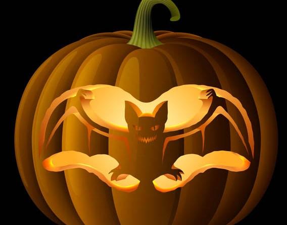 Spooky Bat Pumpkin Carving Pattern