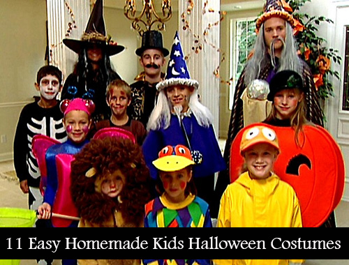 11 Easy Homemade Kids Halloween Costume Ideas