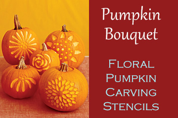 Pumpkin Bouquet - Flower Pumpkin Carving Patterns