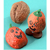 Walnut Pumpkins - Halloween Craft Idea