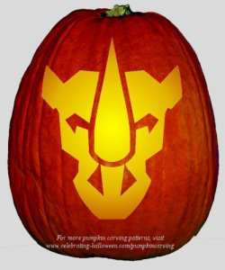 Free Transformers Pumpkin Carving Stencils Celebrating Halloween