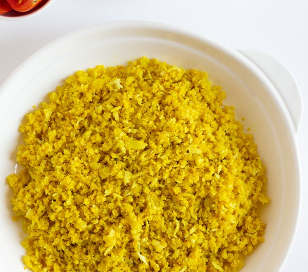 Turmeric Cauliflower Rice with Coconut