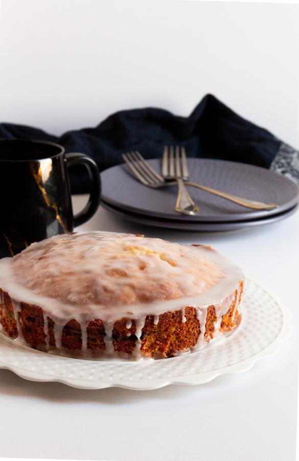 Lemon blackberry swirl cake
