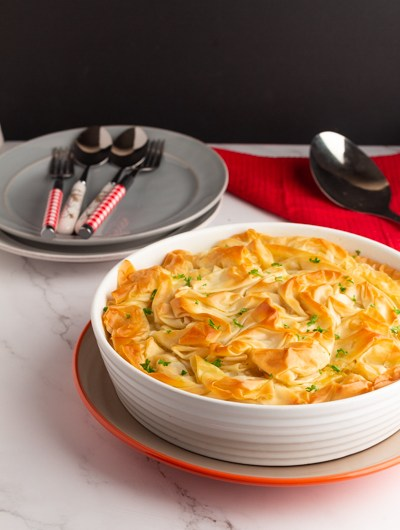 Easy Chicken Potpie with Phyllo(Filo) Pastry