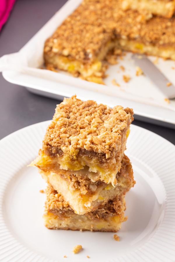 Pineapple Cashew Crumb Bar Recipe