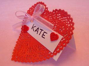 Doily Place Card Valentines Day Craft Celebrating Holidays