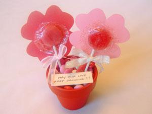 Lollipop Flower Pot Valentines Day Gift Celebrating