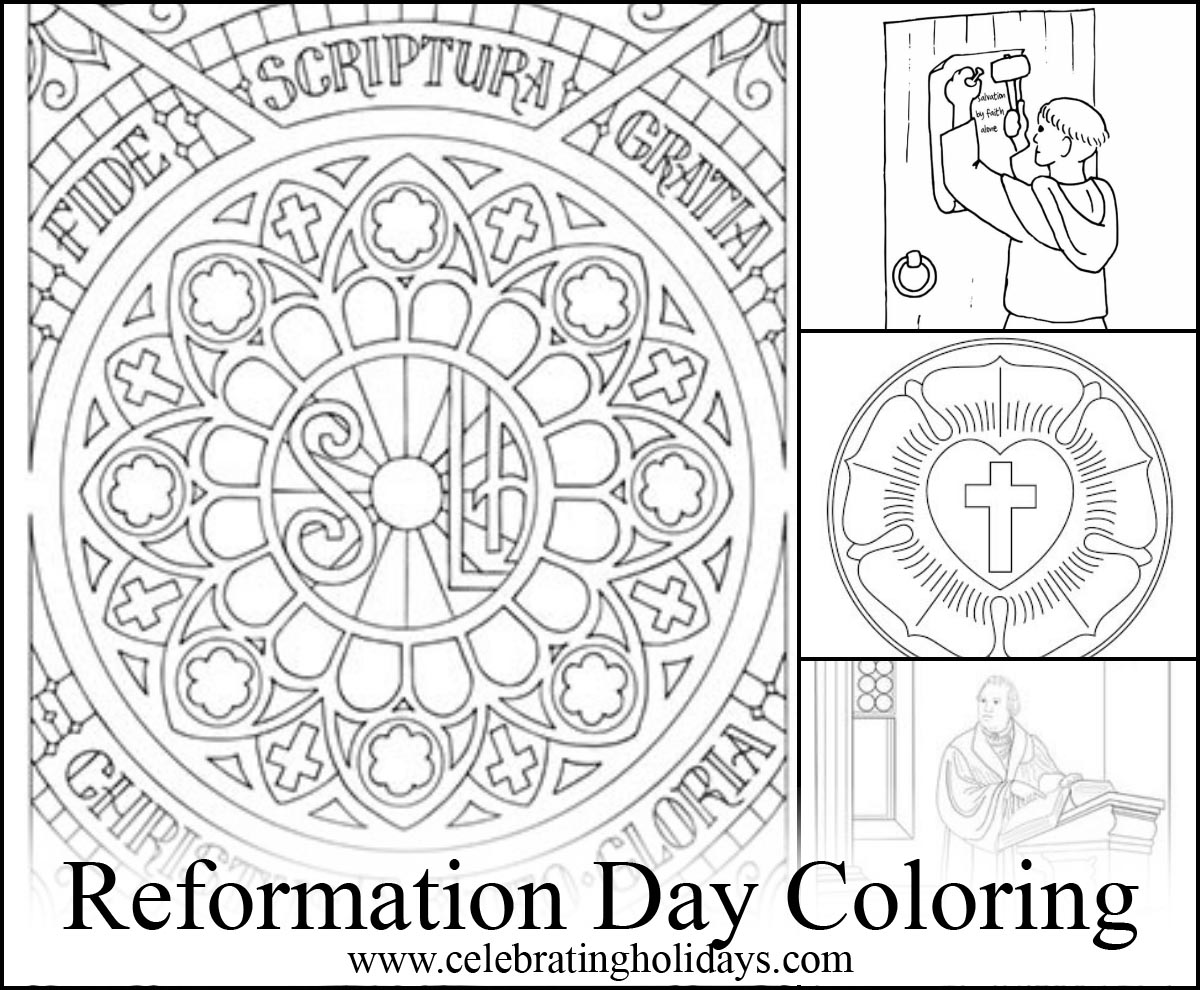 Luther Rose Coloring Page Sketch Coloring Page