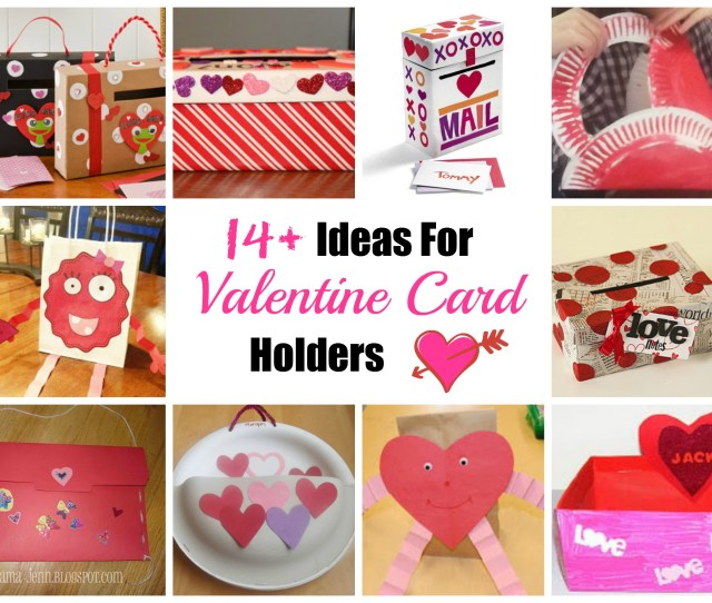 Valentines With Edible Treats  C B Valentines Day Card Holder Ideas
