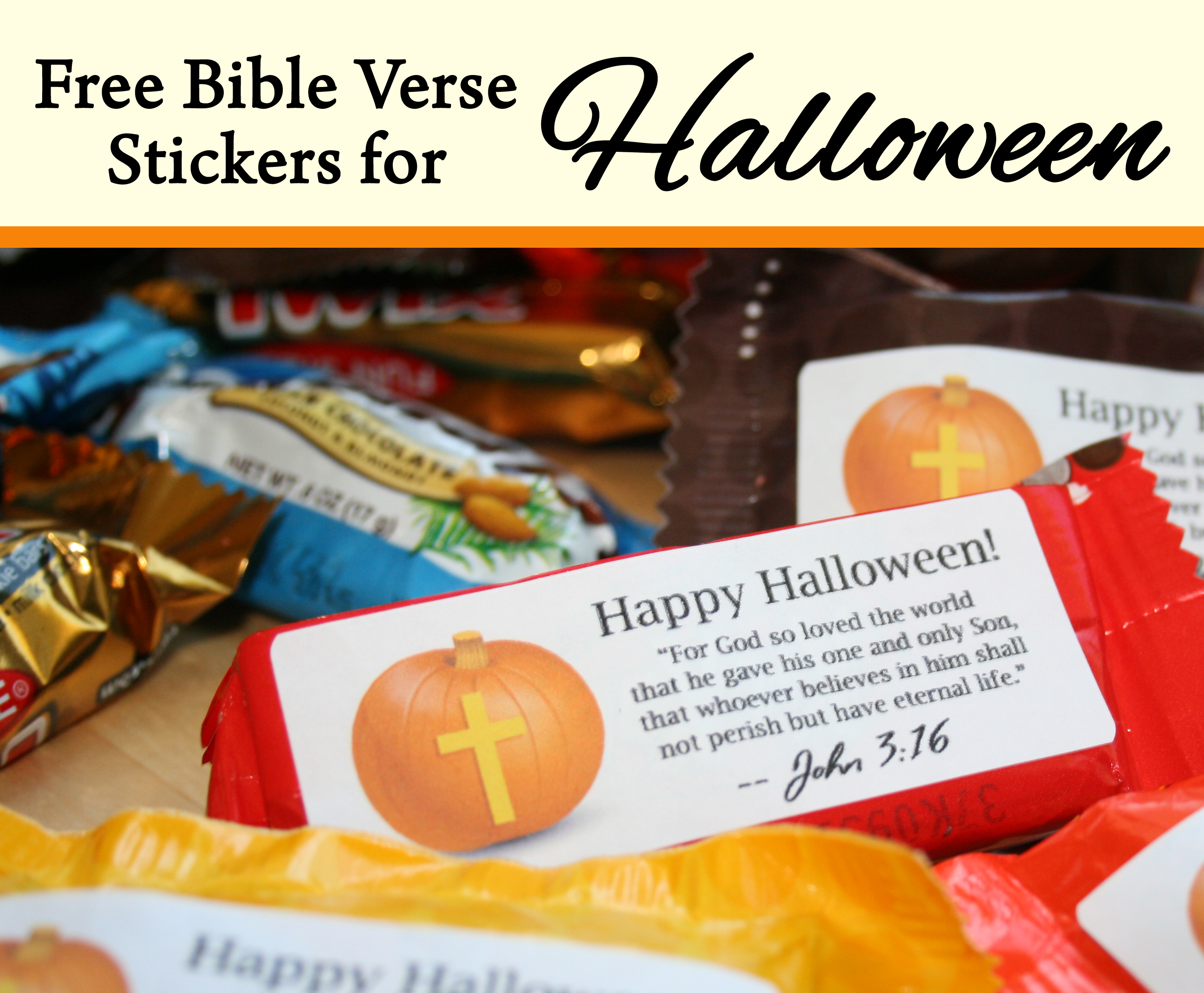 Free Bible Verse Candy Labels For Halloween