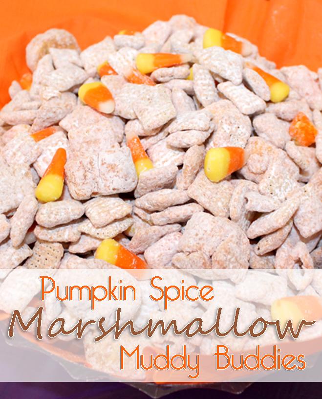 Pumpkin Spice Marshmallow Muddy Buddies